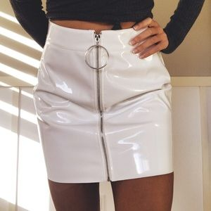 Body Tight White Skirt